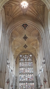 We visited the Bath Abbey and walked up many steps to the roof of the Abbey. The view was so amazing!